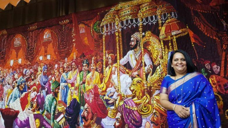 20,888 कापडी तुकड्यांनी गोधडीवर साकारला शिवराज्याभिषेक सोहळा, India Quilt Festival 2019 चं ठरणार खास आकर्षण