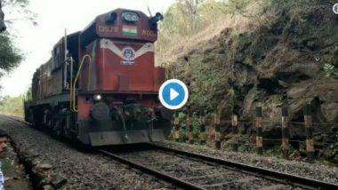 कोकण रेल्वेमार्गावर मोठा अनर्थ टळला, अचानक तुटले करमाळी - सीएसएमटी ट्रेनचं कपलिंग, प्रसंगावधान राखत पुन्हा जोडण्यात यश (Video)