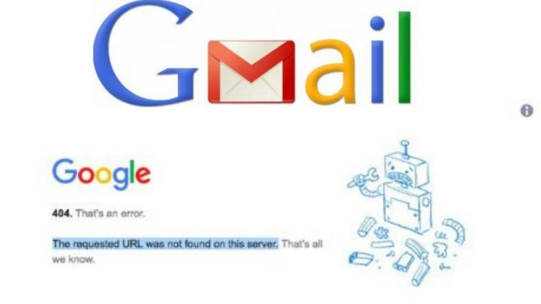 भारतासह युरोपीय देशांमध्ये Gmail सेवा ठप्प, 'Error 404' दाखवत असल्याच्या युजर्सच्या ऑनलाईन तक्रारी