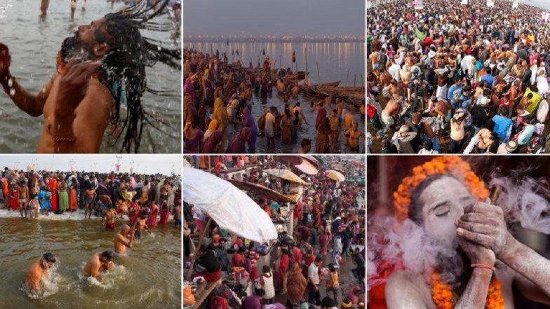 Kumbh Mela 2019: प्रयागराज येथे कुंभमेळ्याला सुरुवात; साधू-संतांसह भक्तांचे पहिले शाही स्नान