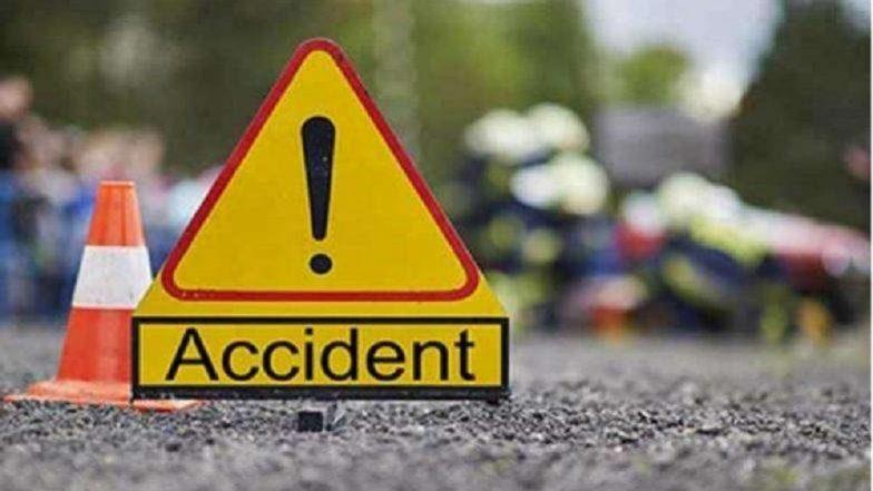 मुंबई-अहमदाबाद राष्ट्रीय महामार्गावर गॅस टँकर पुलावरुन कोसळला; चालकासह दोन जण गंभीर जखमी