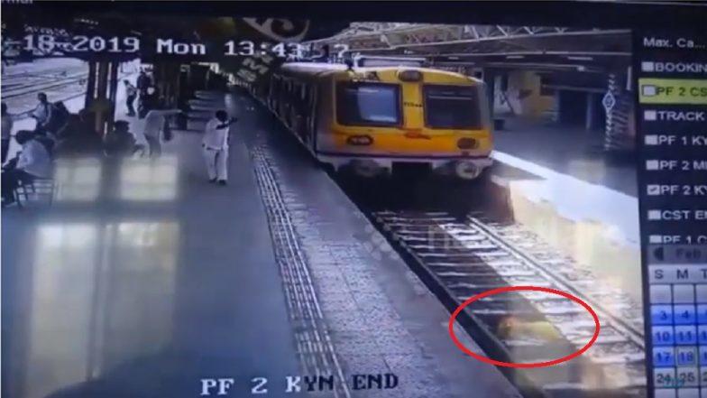 व्हिडिओ: चमत्कारच! अख्खी ट्रेन अंगावर उभी राहिलीतरी, रुळावर पडलेली महिला जिवंत