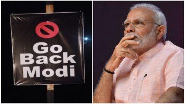 पांढरकवडा:'गो बॅक मोदी ' यवतमाळ दौऱ्यात पंतप्रधान नरेंद्र मोदी यांच्या विरोधात झळकले बॅनर