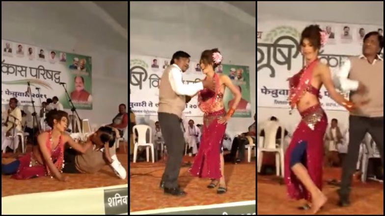 कारभारीsss दमानं... सेवानिवृत्त नायब तहसीलदारांचा नर्तिकेसोबत नृत्याचा तडका; व्हिडिओ व्हायरल