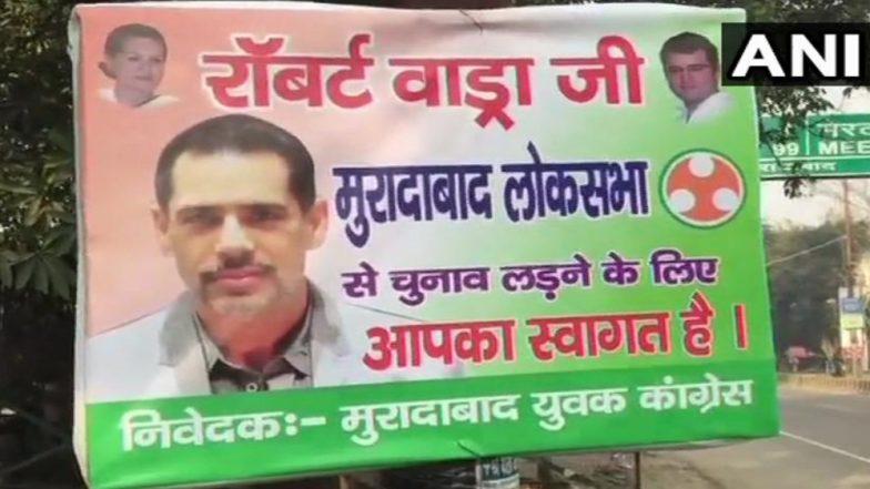 Lok Sabha Elections 2019 : 'रॉबर्ट वाड्रा यांचे सहर्ष स्वागत' मतदारसंघात पोस्टर्स झळकले, राजकीय वर्तुळात खळबळ