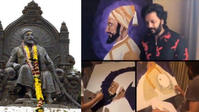 Shiv Jayanti 2019: Riteish Deshmukh च्या खास शिवजयंती शुभेच्छा, स्वतः साकारलं छत्रपती शिवाजी महाराजांचं चित्र  (Video)