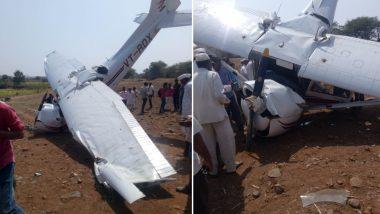 पुणे-इंदापूर येथे विमानाचा अपघात, मोठी जीवित हानी टळली