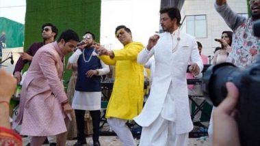 Akash Ambani Shloka Mehta Wedding: आकाश अंबानी सोबत वरातीमध्ये थिरकला शाहरुख खान, करण जोहर आणि रणबीर कपूर (Watch Video)