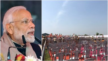 Lok Sabha Elections 2019: नरेंद्र मोदी यांच्या सभेला गर्दी कमी, रिकाम्या खुर्च्याच अधिक; विरोधकांनी उडवली खिल्ली