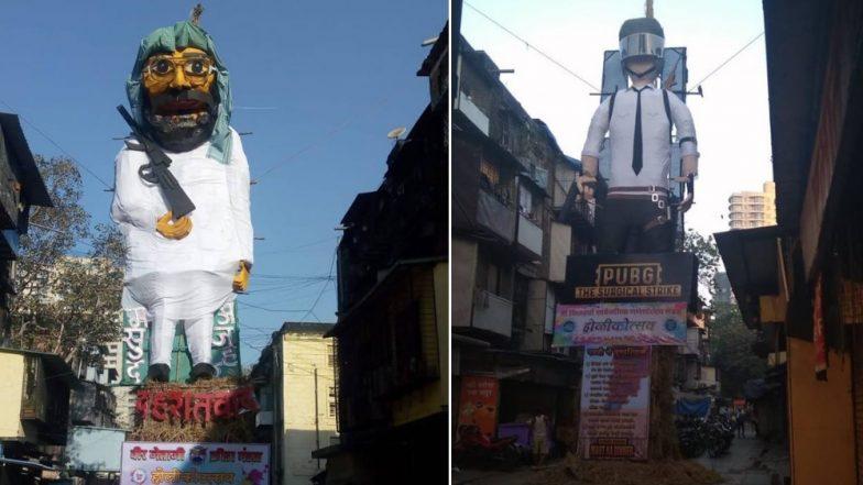 Happy Holi 2019: वरळी येथील बी.डी.डी चाळीत दहशतवाद्यांचा म्होरक्या मसूद अजहर आणि पबजीची होळी