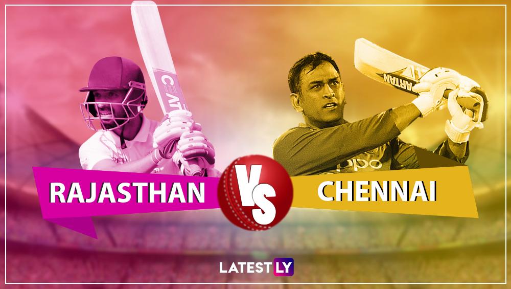 CSK vs RR, IPL 2019 Live Cricket Streaming पहा 'हॉटस्टार' वर; टॉस जिंकत 'राजस्थान रॉयल्स' चा क्षेत्ररक्षणाचा निर्णय