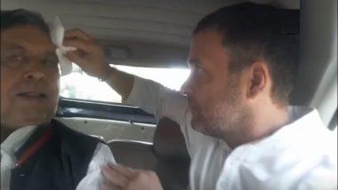 व्हिडिओ: राहुल गांधी यांनी स्वत: पुसले अपघातग्रस्त व्यक्तीच्या डोक्याचे रक्त