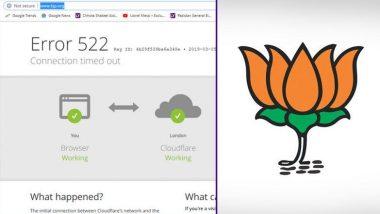 BJP ची वेबसाईट हॅक; दिसू लागला नरेंद्र मोदी यांचा व्हिडिओ आणि आक्षेपार्ह मजकूर