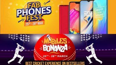 Amazon Fab Phones Fest Sale,Flipkart Mobiles Bonanza Sale: 25-28 मार्च दरम्यान स्मार्टफोन्सवर आकर्षक सवलती; नो कॉस्ट ईएमआय, एक्सचेंज ऑफर