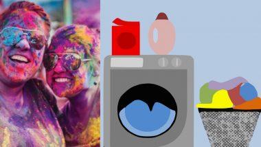 Holi 2019: होळीच्या रंगांचे डाग घरच्या घरी कपड्यावरून दूर करतील या '5' मॅजिकल टीप्स