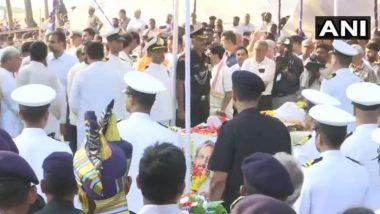 मनोहर पर्रिकर पंचत्त्वात विलीन, मिरामार बीच वर झाले अंतिम संस्कार