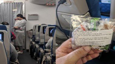 विमान प्रवासात 4 महिन्याच्या बाळाचा रडण्याचा त्रास इतरांना होऊ नये म्हणून आईने लढवली अनोखी शक्कल; खास संदेशासह दिलं 'हे' गिफ्ट (Photos)