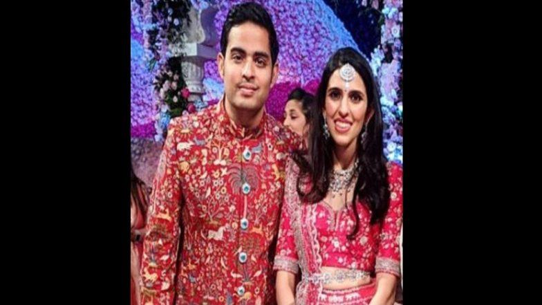 Akash Ambani-Shloka Mehta Wedding Reception: आकाश अंबानी-श्लोका मेहता यांची रिसेप्शनमधील पहिली झलक! (Photo)