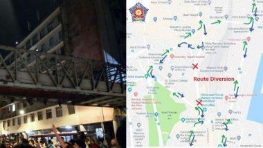 CSMT Bridge Collapse: सीएसएमटी जंक्शन आणि जे.जे. फ्लायओव्हर परिसरातील वाहतूक बंद, 'या' पर्यायी मार्गाचा वापर करण्याचं Mumbai Police चं मुंबईकरांना आवाहन