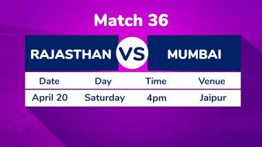 RR vs MI IPL 2019 Live Cricket Streaming: मुंबई इंडियंस विरूद्ध राजस्थान रॉयल्स सामन्याचा लाईव्ह थरार पहा Star Sports आणि Hotstar Online वर!