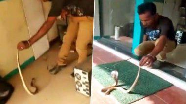 तामिळनाडू: कोयंबटूर येथील एटीएम मध्ये सापडला साप; अशी केली सुटका (Watch Video)