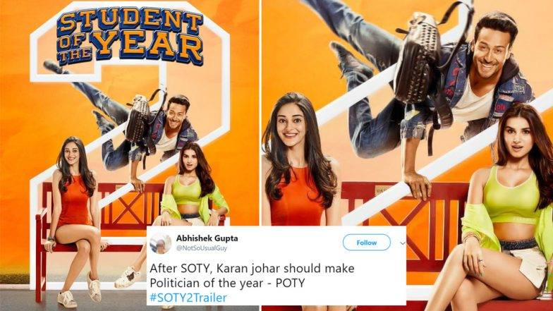 Student Of The Year 2 Memes: अनन्या पांडे, तारा सुतारिया, टायगर श्रॉफ च्या SOTY2  ट्रेलर नंतर सोशल मीडियात मिम्सचा पाऊस