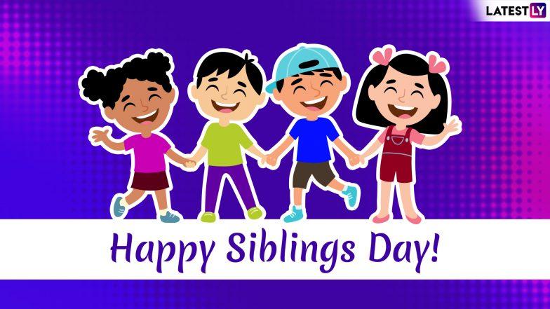 Happy Siblings Day 2019: तुमच्या खट्याळ भावंडांना शुभेच्छा देण्यासाठी '6' हटके मराठी मेसेजेस, Greetings, GIFs; अधिक दृढ करा आज तुमचं नातं
