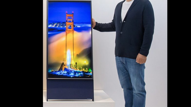 Samsung ने लॉन्च केला उभी स्क्रीन असणारा टीव्ही; 90 अंशात फिरणार, फोनप्रमाणे करू शकता वापर