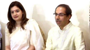 काँग्रेस पक्ष राष्ट्रीय प्रवक्त्या प्रियंका चतुर्वेदी शिवसेनेत, उद्धव ठाकरे यांच्या उपस्थितीत 'जय महाराष्ट्र' म्हणत बांधले शिवबंधन