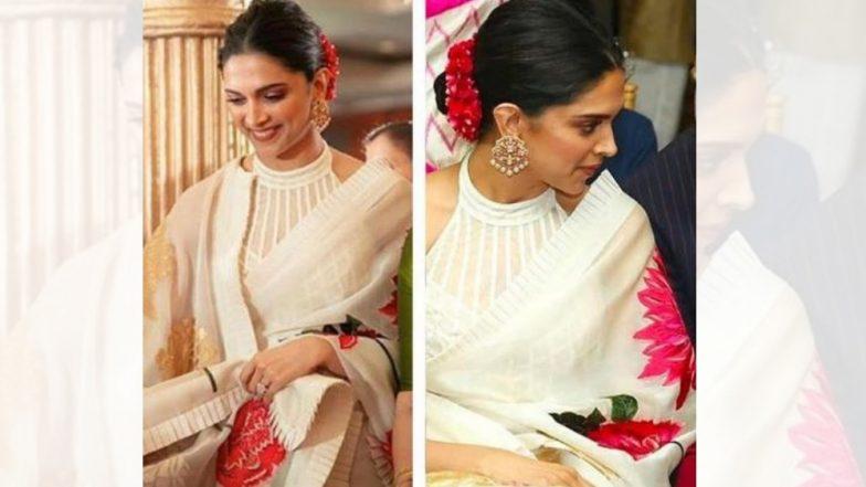 मुंबईत मैत्रीणीच्या लग्नात दीपिका पादुकोण हिने घातलेली साडी चक्क 1.25 लाख रुपयांची!