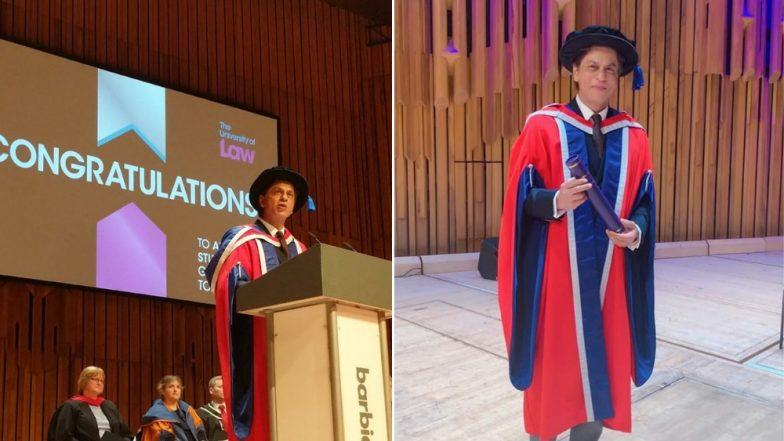 बॉलिवूडमधील किंग खान शाहरुख ह्याला युनिव्हर्सिटी ऑफ लॉ लंडन मधून डॉक्टरेट पदवी प्रदान