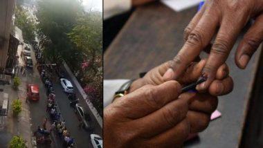 Lok Sabha Elections 2019 Phase 4 Voting: कांदिवली मध्ये मतदानासाठी दीड किमी लांब रांगेत उभे राहिले मतदार (Video)