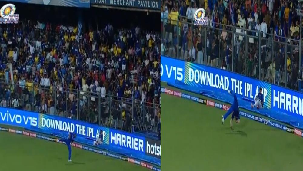 MI vs CSK, IPL 2019: कायरन पोलार्ड याच्या 'या' एकहाती कॅचची सोशल मीडियात चर्चा (Watch Video)