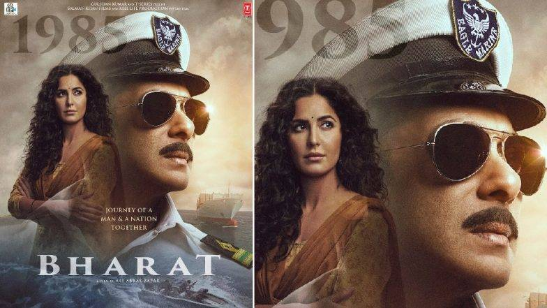 Salman-Katrina Bharat Poster: 'भारत' सिनेमाच्या नव्या पोस्टरवर सलमान खान 'नेव्ही' ऑफिसर तर 'कॅटरिना' चा देसी अंदाज!