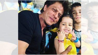 कोलकता नाईट रायडर्स संघावर चेन्नई सुपर किंग्सने विजय मिळवल्यानंतर शाहरुख खान-झिवा धोनी यांचे हे खास फोटोज सोशल मीडियात व्हायरल! (Viral Photos)