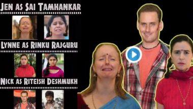 अमेरिकन डिप्लोमॅट्स जेव्हा सई ताम्हणकर, रिंकू राजगुरू आणि सुबोध भावे च्या मराठी सिनेमातील लोकप्रिय डायलॉग्स बोलतात... दादासाहेब फाळके जयंती आणि महाराष्ट्र दिनाच्या पार्श्वभूमीवर US Consulate Mumbai ने शेअर केला मजेदार Video