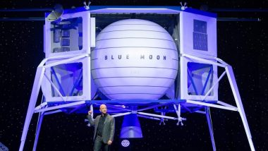आता Amazon सुद्धा अंतराळ मोहिमेत सामील; Jeff Bezos यांनी सादर केले चंद्रावर झेपावणारे Moon Lander