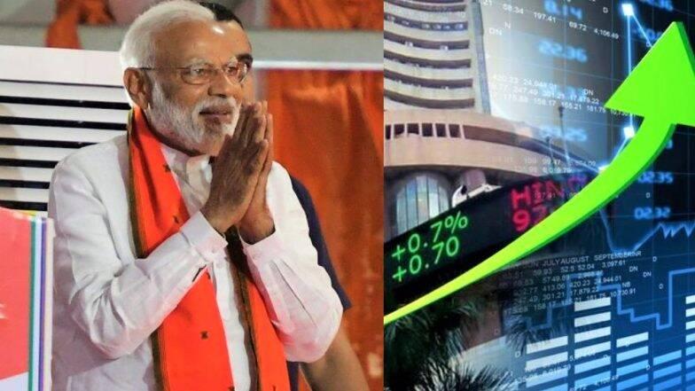 Exit Poll Results 2019 नंतर दुसर्या दिवशीही शेअर बाजार तेजीत; Sensex ने उच्चांक मोडत 39,554 चा गाठला टप्पा