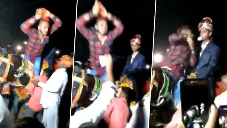 नवरदेवाच्या घोड्यावर चढून तरुणाचा जबरदस्त नागिन डान्स; सोशल मीडियावर व्हिडिओ व्हायरल (Watch Video)