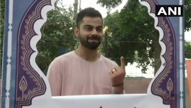 Lok Sabha Elections 2019 Phase 6: टीम इंडियाचा कर्णधार विराट कोहली ने केले मतदान, गुरुग्रामच्या एका शाळेत जाऊन बजावला मतदानाचा हक्क