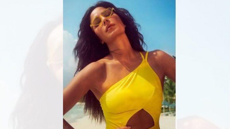 कैटरीना कैफ हिच्या Yellow Swimsuit मधील हॉट फोटोमुळे चाहते घायाळ