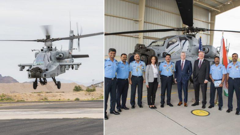 'अपाची' अत्याधुनिक पद्धतीचे लढाऊ हेलिकॉप्टर भारतीय हवाई दलात दाखल