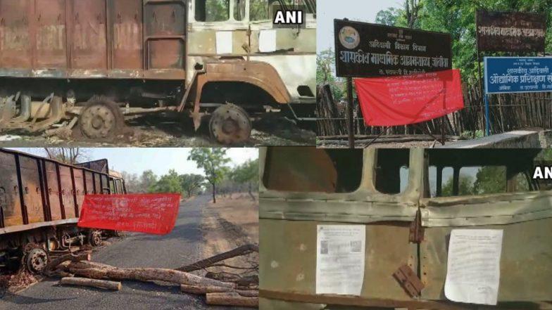 Gadchiroli Bandh: जिल्ह्यात हिंसाचार; लाकडी डेपोमधील ट्रकला आग, झाडे तोडून वाहतूक केली ठप्प