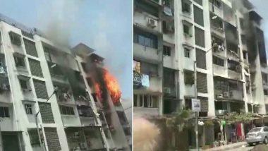 Mumbai Fire: अंधेरी येथील इमारतीमध्ये सिलेंडर ब्लास्ट मुळे भडकली आग, 2 जखमी