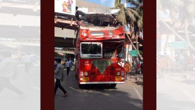 मुंबई: सांताक्रुझ येथील वाकोला ब्रिजजवळ बेस्टच्या डबल डेकर बसचा अपघात