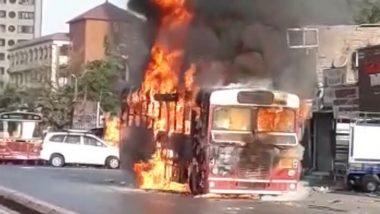 Mumbai Fire: गोरेगाव परिसरात उभ्या BEST च्या बसने घेतला पेट, प्रवाशांच्या सुरक्षेवर पुन्हा एकदा प्रश्नचिन्ह