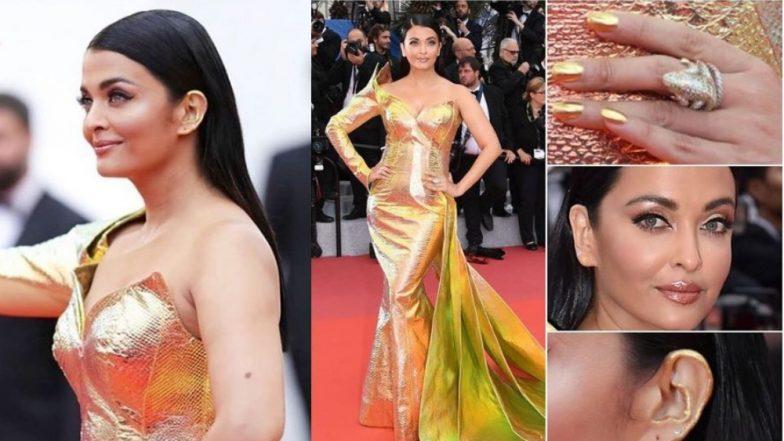 Cannes 2019 Red Carpet: ऐश्वर्या राय बच्चन मेटॅलिक गाऊनमध्ये अवतरली यंदा 'कान्स'च्या रेड कार्पेटवर; मेकअपने वेधलं लक्ष