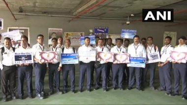 मुंबई: छत्रपती शिवाजी महाराज आंतरराष्ट्रीय विमानतळावर जेट एअरवेज कर्मचार्यांचे पुन्हा आंदोलन सुरू