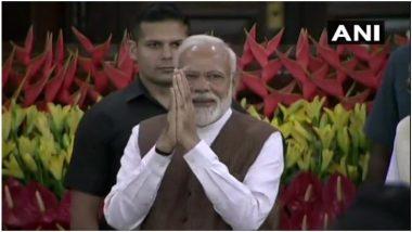 दिल्ली: संसदेच्या सेंट्रल हॉलमध्ये सुरु असलेल्या बैठकीत नरेंद्र मोदी यांची NDA च्या नेतेपदी निवड