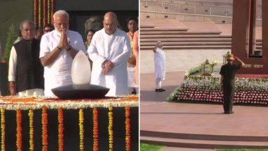 नरेंद्र मोदी यांनी शपथविधी सोहळ्यापूर्वी घेतली अटलबिहारी वाजपेयी, महात्मा गांधी यांच्या समाधीस्थळाचं दर्शन; शहीदांनाही श्रद्धांजली  (Watch Video)